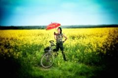 Ecki Stieg im Rabsfeld mit Schirm
